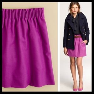 j. crew // wool city mini skirt elastic waist